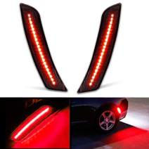 CIIHON Smoked Lens LED Red Side Marker Lights, Rear Bumper Sidemarker Reflector Bulbs, Black Housing 42-SMD Led Lamps Compatible with 2016-up Chevy Camaro, Replace OEM Side Marker Fender Lamps