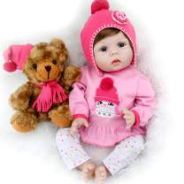 Aori Reborn Baby Doll Lifelike Weighed Reborn Girl Doll 22 Inch with Plush Toy and Accessories Best Birthday Gift for Girls Age 3+