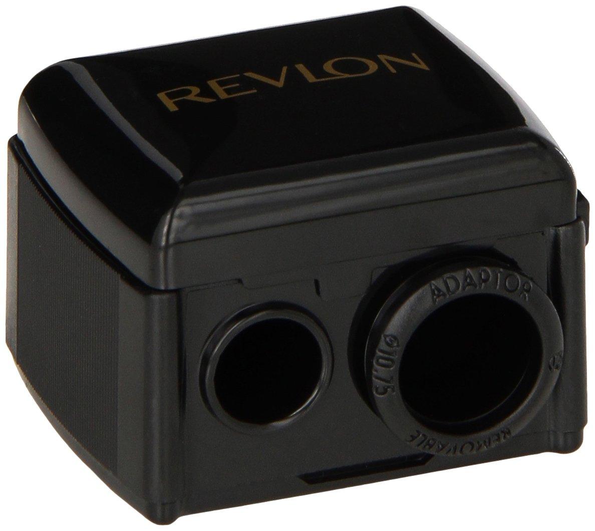 Revlon Universal Points Sharpener, Dual Pencil Sharpener for Lip Liner, Eyebrow, and Eyeliner Pencils
