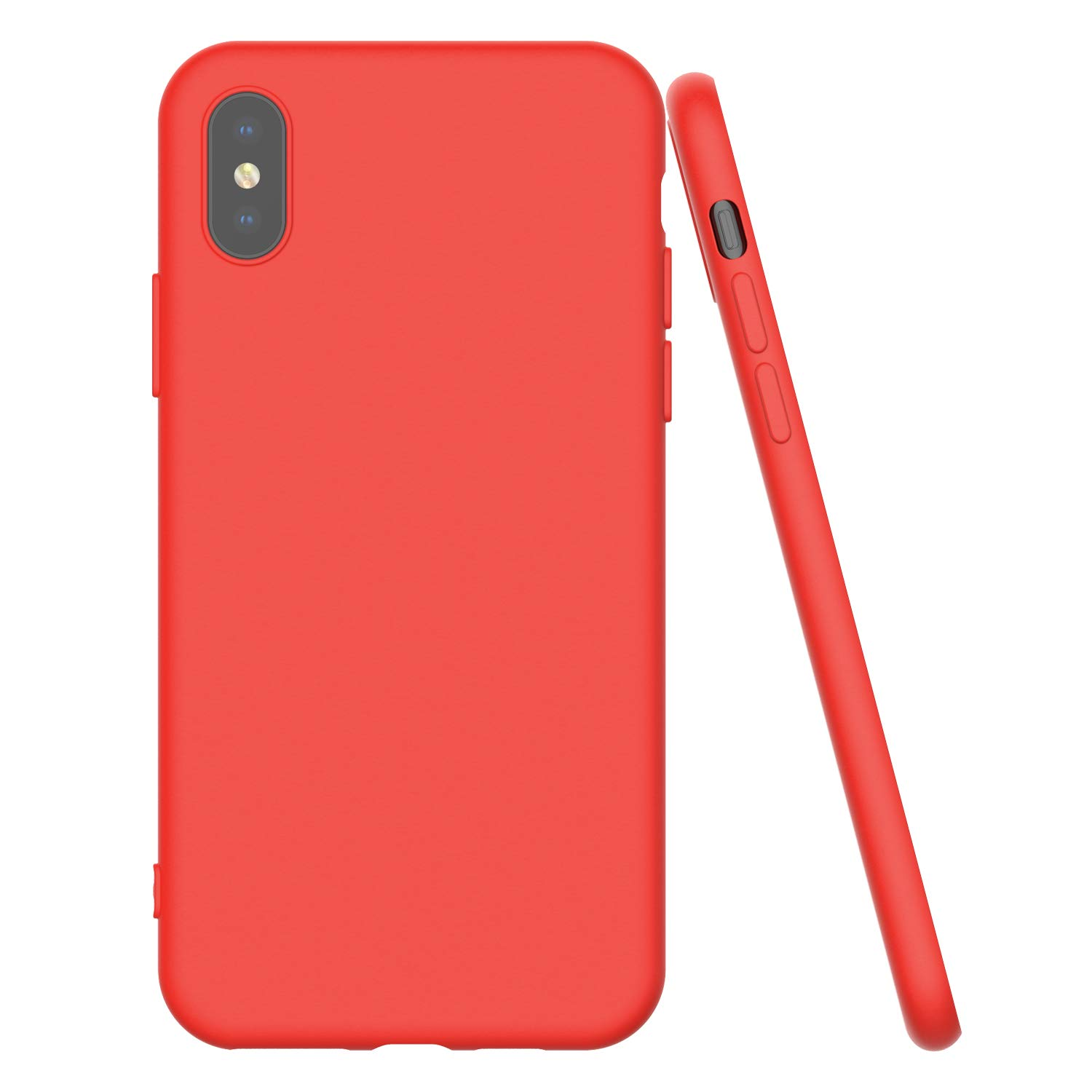 Shamo's Ultra Thin Case for iPhone Xs MAX with Soft Microfiber Cloth Lining Cushion, Slim Fit Flexible Soft TPU - Shockproof Protective Cover - Matte (Red)