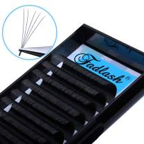 Easy Fan Volume Lashes D DD Curl Volume Lash Extensions 0.07mm Auto Blooming 2D-10D Self Fanning Eyelash Extensions 8-18mm Length by FADLASH (0.07-D, 14mm)
