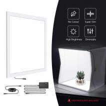 Neewer 15x15 Inches/38x38cm Photo Studio LED Light Panel, Portable Shadowless LED Fill Light with Power Adapter, Dimmable Photography Shooting Box/Tent Bottom Light for Product Food Jewelry Cosmetic
