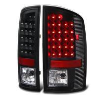 VIPMOTOZ LED Tail Light Lamp For 2007-2008 Dodge RAM 1500 2500 3500 - Matte Black Housing, Driver & Passenger Side