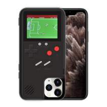 KOBWA Gameboy Case for iPhone,Retro 3D Gameboy Design Style Silicone Cover Case with 36 Small Games,Color Screen,Video Game Cover Case for iPhone 11/11Pro/11Pro,and More (Black, iPhone 11)