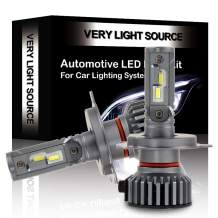 OCPTY H4 LED Headlight Bulb, 80W 6000K 8000LM Hi/Lo Beam DOT Approved Conversion Kit LED Headlamp Super Brighter - 1 Year Warranty(2pcs)