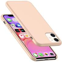 AnsTOP iPhone 11 Case, Anti-Slip Liquid Silicone Gel Rubber Bumper Cases with Soft Microfiber Cushion Slim Hard Shell Shockproof Protective Cover for iPhone 11 (6.1 inch), 2019 - Pink