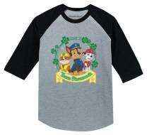Team Shamrock St.Patrick's Paw Patrol 3/4 Sleeve Baseball Jersey Toddler Shirt
