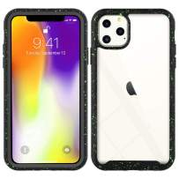 Case Compatible with iPhone 11 Anti-Fall Anti-Scratch 360 Degree Shockproof Protective Starry Black with Green Spots Phone Cover for iPhone 11 6.1 Inch