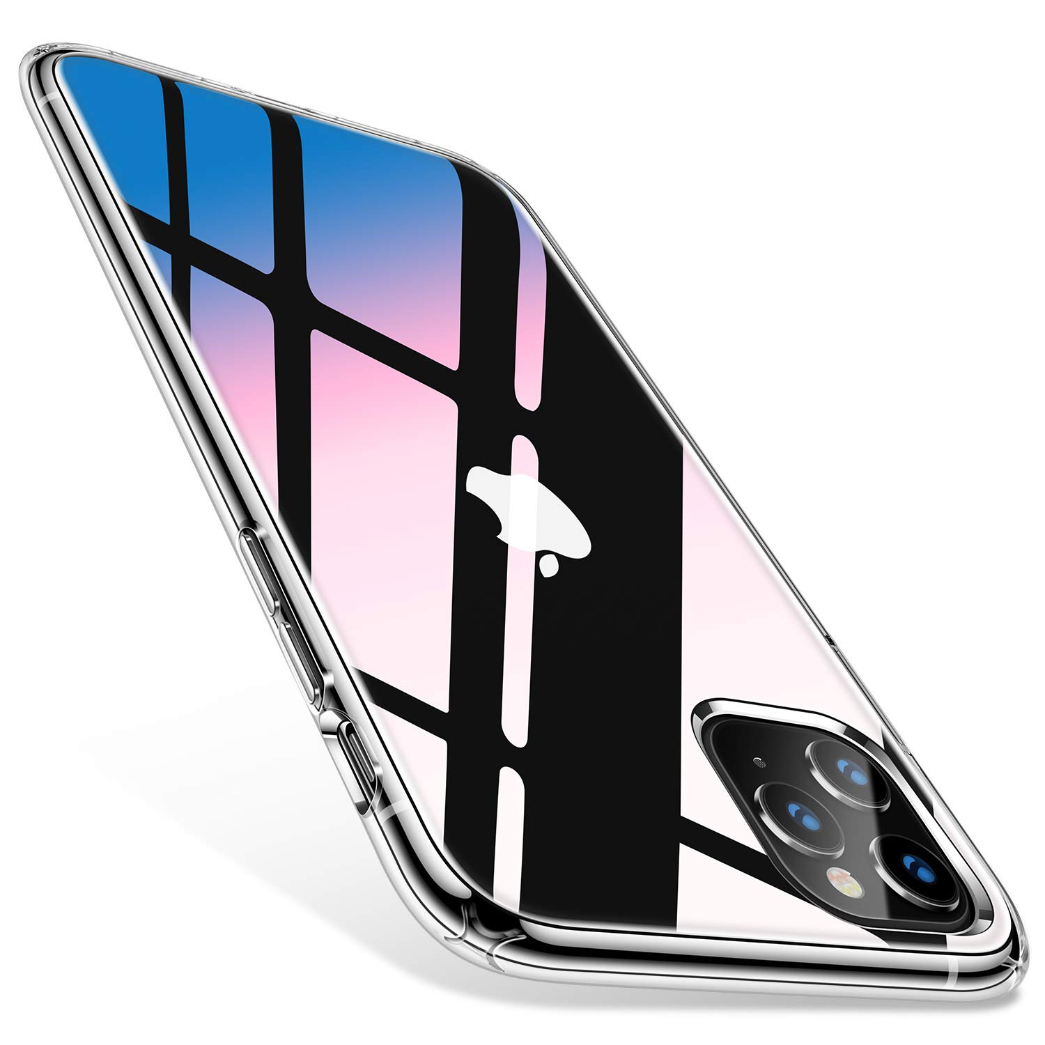 TORRAS Diamonds Clear iPhone 11 Pro Max Case, [Anti-Yellowing][Fully Protective] Slim Fit Shockproof Hard Plastic Back & Soft Silicone Bumper Phone Case Designed for iPhone 11 Pro Max, Transparent