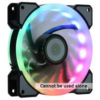 DS Rainbow RGB LED 120mm Case Fan for PC Cases, CPU AIR Cooling (Single Rainbow Fan, 3pcs Fans Kit and 6pcs Fans kit Extension Accessories, cannt be Alone Used, A Series)