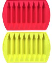CraCycle Orginal Crayon Recycling Mold, Double Tipped, 100% Pure Silicone, Oven Safe, Durable and Reusable (2 Pack)