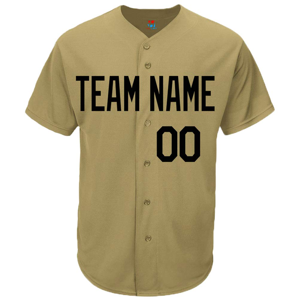 Pullonsy Custom Baseball Jersey for Men Women Youth Button Down Embroidered Your Name & Numbers S-8XL - Add Your Logo