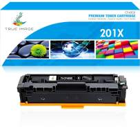 True Image Compatible Toner Cartridge Replacement for HP 201A CF400A 201X CF400X Color Laserjet Pro MFP M277dw M277n M277C6 M277 M252dw M252n M252 Printer Ink (Black, 1-Pack)