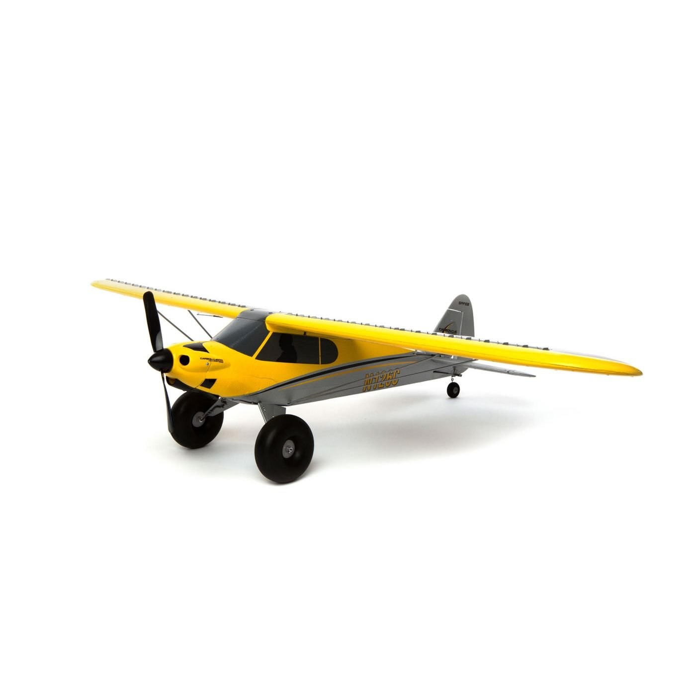 HobbyZone Hobbyzone Carbon Cub S+ 1.3M RC Airplane BL BNF Basic with GPS (Transmitter, Battery & Charger Not Included), HBZ3250, Yellow