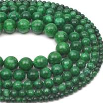 """Oameusa 8mm Green Chalcedony Natural Round Smooth Beads Gemstone Beads Loose Beads Agate Beads for Jewelry Making 15"""" 1 Strand per Bag-Wholesale"""