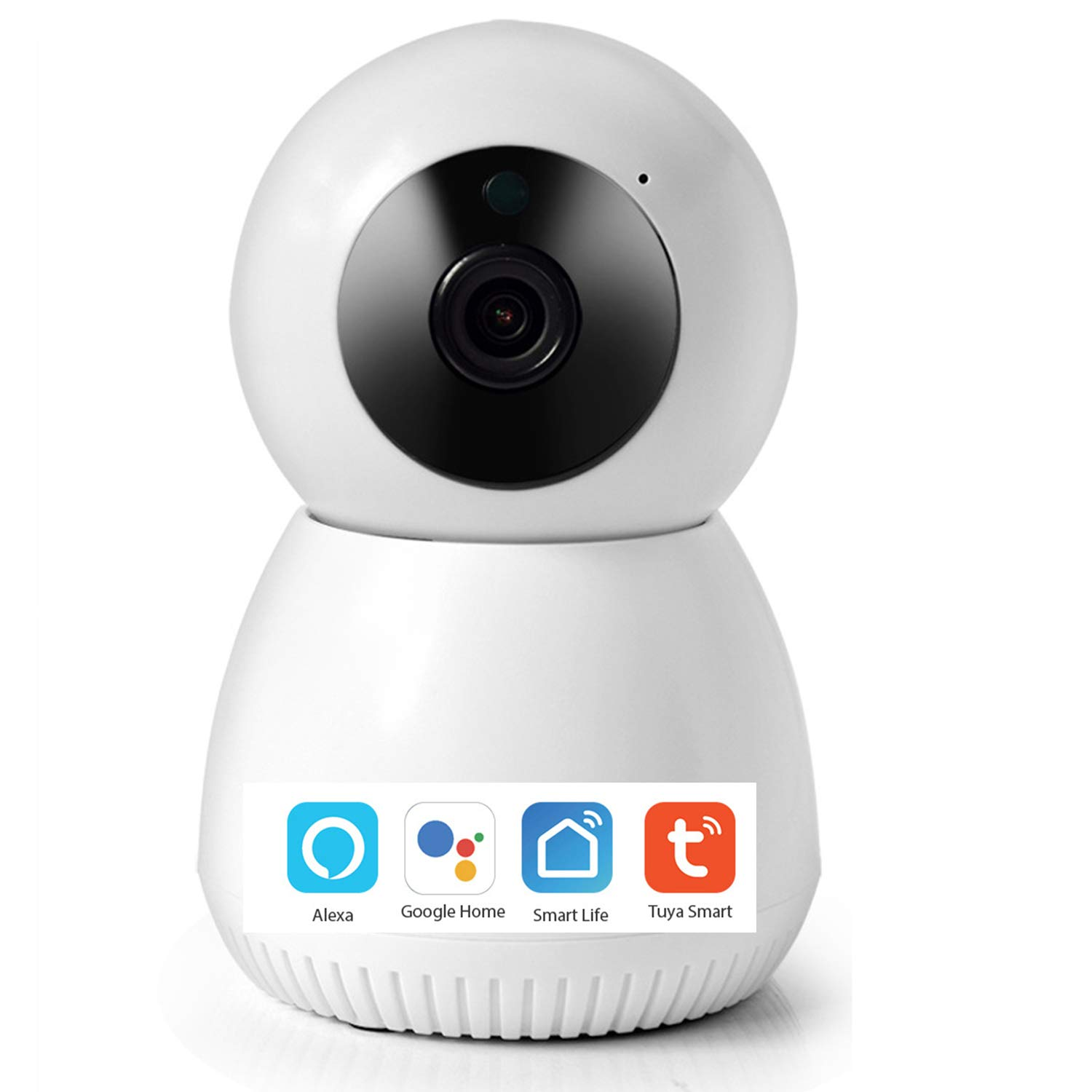 1080P Wireless Emergency Surveillance Camera Night Vision Smart Home Security Camera 2MP 2-Way Audio Motion Detection WiFi Baby Monitor Camera Works with Echo, Google Home Hub, Phone App(A, 1 Pack)