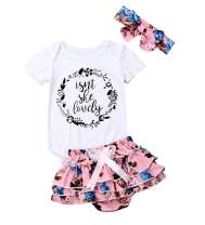 Baby Girls Jumpsuit Newborn Infant Kids Floral Clothes Shorts Summer Romper Bodysuit Sundress Outfits
