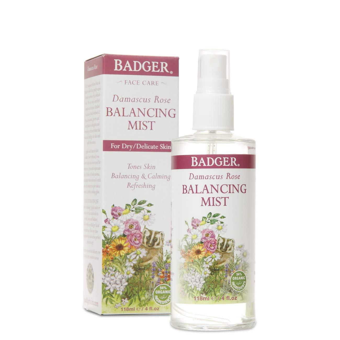 Badger - Damascus Rose Balancing Mist, 4 oz Bottle