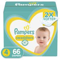Diapers Size 4, 66 Count - Pampers Swaddlers Disposable Baby Diapers, Super Pack
