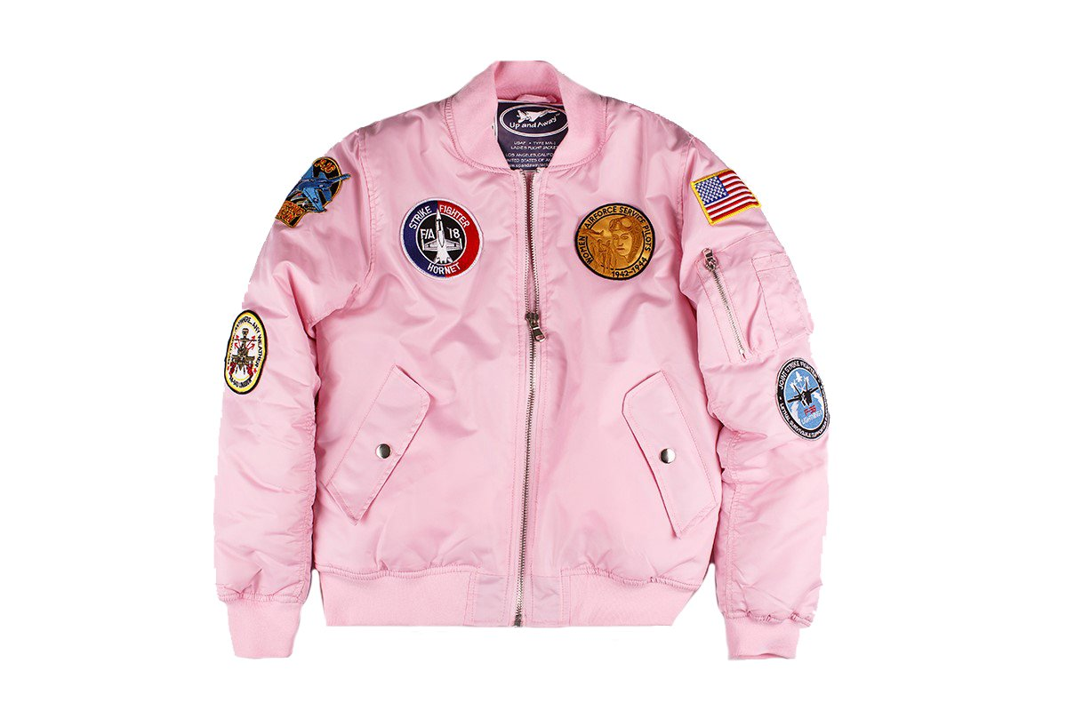 Up and Away MA-1 Flight Bomber Jacket (Pink)