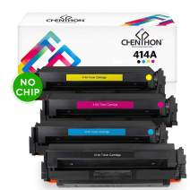 CHENPHON Compatible HP 414A Toner Cartridge W2020A W2021A W2022A W2023A for use with HP LaserJet Pro M454dw M454dn MFP-M479fdw M479fdn M479dw Printer 4-Pack (Black Cyan Yellow Magenta) without IC chip