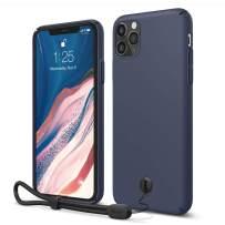 "elago iPhone 11 Pro Max Slim Fit Strap Case 6.5""  Jean Indigo  - Slim, Light, Simple Design, Matte Coating, Anti-Slip, Raised Lip, Attachable Strap and Button, Fit Tested [Made in Korea]"
