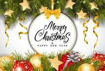 Baocicco Vinyl 7x5ft Merry Christmas Backdrop Happy New Year Photography Background Christmas Tree Christmas Ball Festival Party Children Baby Portraits Photo Studio