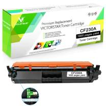 Compatible Toner Cartridge CF230A 30A Black with Chip VICTORSTAR for use in HP Laser Printers Laserjet M203d M203dn M203dw, Pro MFP M227fdn M227fdw