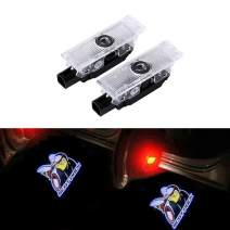 inginuity time 2PCS LED Car Door Lamps For Dodge Challenger Scatpack Shadow Lights Courtesy Replacement Projectors (SCATPACK)
