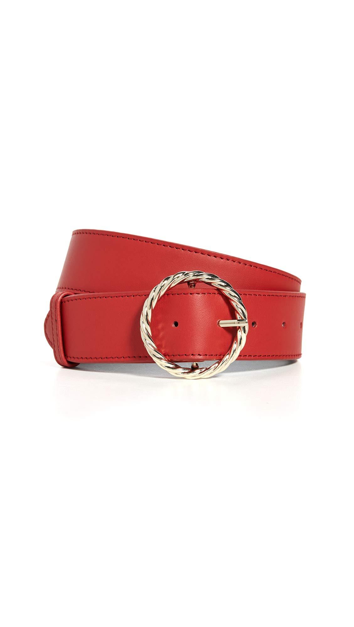 Loeffler Randall Women's Leo Twisted Circle Buckle Belt