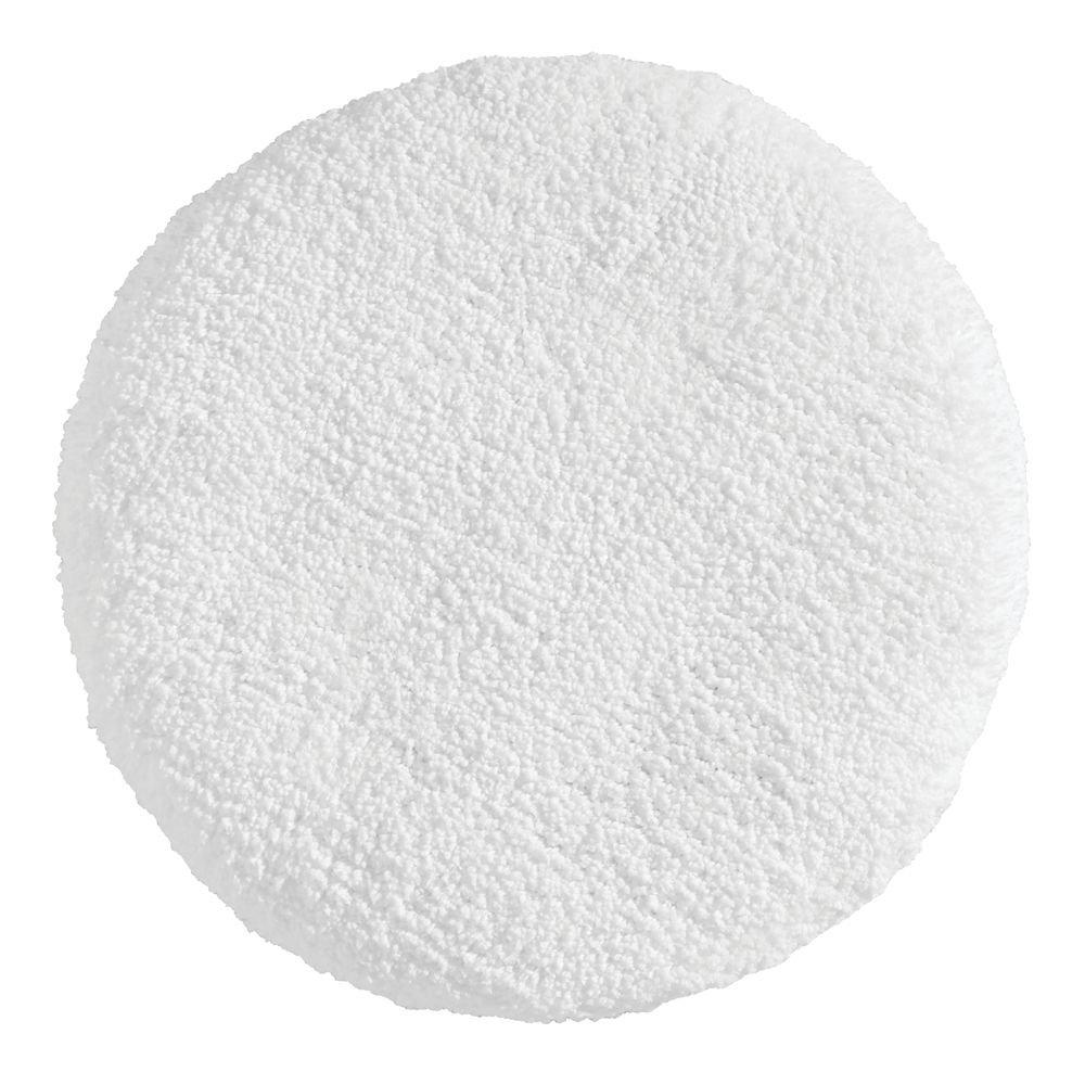 InterDesign Microfiber Polyester White Spa Toilet Lid Cover