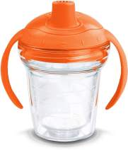 Tervis Clear Insulated Tumbler with Sunburst Orange Lid, 6 oz Sippy Cup Tritan