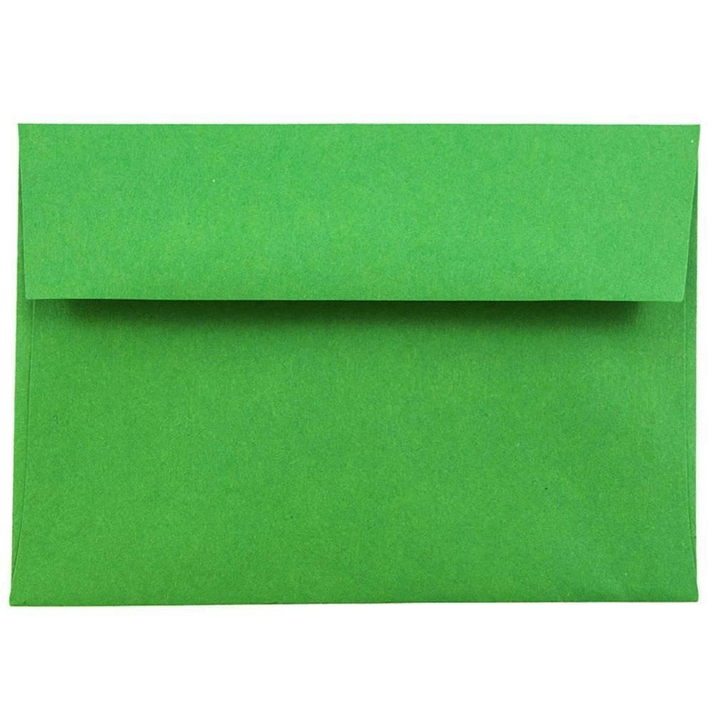 JAM PAPER 4Bar A1 Colored Invitation Envelopes - 3 5/8 x 5 1/8 - Green Recycled - Bulk 250/Box