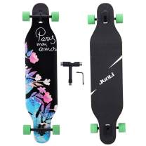 Junli 41 Inch Freeride Longboard Skateboard - Complete Skateboard Cruiser for Cruising, Carving, Free-Style and Downhill