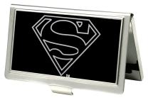 Buckle-Down Business Card Holder - Superman Outline Reverse Brushed - Small