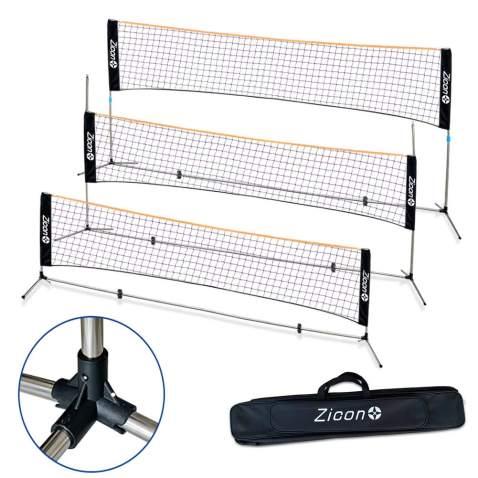 Large 5m Adjustable Mini Foldable Badminton Tennis Volleyball Net density mesh