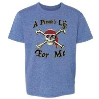Pop Threads A Pirate's Life for Me Skull Halloween Costume Toddler Kids Girl Boy T-Shirt