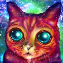 DIY 5D Diamond Painting Kits for Adults Full Drill, Big-Eyed Cat Animal Rhinestone Embroidery Cross Stitch Pictures Arts Craft Home Wall Decor 11.8x11.8 inch