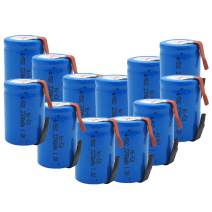 GLESOURCE 4/5 SC NiCd Sub C 1.2V 2200mAh Rechargeable Battery with Tab for Power Tool(12 Pcs)
