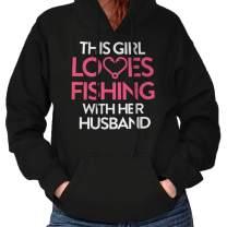 Girl Loves Fishing with Husband Fishing Hoodie