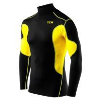 TCA Men's & Boy's SuperThermal Compression Shirt Base Layer Thermal Long Sleeve - Mock Neck