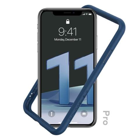 RhinoShield Bumper Case Compatible with [iPhone 11 Pro] | CrashGuard NX - Shock Absorbent Slim Design Protective Cover 3.5M / 11ft Drop Protection - Royal Blue