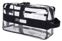 Rough Enough Clear TSA Approved Toiletry Bag Makeup Organizer Bag for Women Men Travel Size Toiletries Stadium Approved Cosmetic Bag Pouch Case for Sport Airplane Travel Accessories School Boy Girl