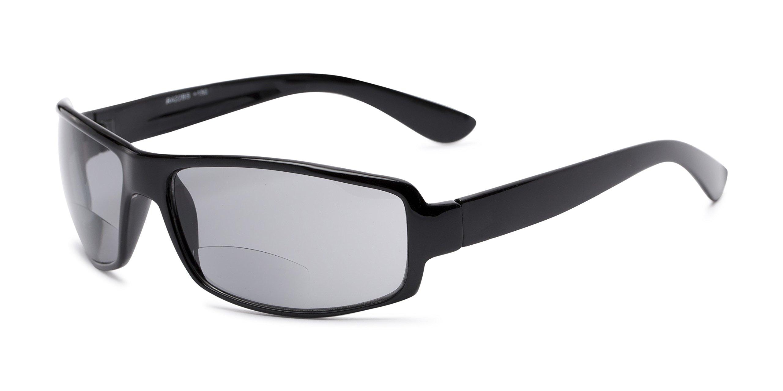 Readers.com Sun Reader: The Oaklie Bifocal Reading Sunglasses Plastic Rectangle Style for Men