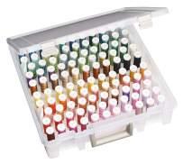 ArtBin 9002AB Super Satchel Box, Portable Craft & Sewing Organizer with Thread Tray, [1] Plastic Storage Case, Clear