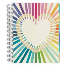 Erin Condren 12 - Month 2020-2021 Rainbow Heart Teacher Lesson Planner (August 2020-July 2021) - Kaleidoscope Interior Design, 210 Pages of Planning Potential