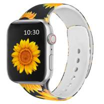 FRUITCAT Watch Band Compatible with Apple Watch 38mm 40mm 42mm 44mm, Soft Silicone Sport Watch Band Replacement Compatible with iWatch Series 6/5/4/3/2/1/SE