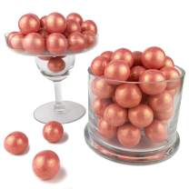 Color It Candy Shimmer Rose Gold 1 inch Gumballs 2 Lb Bag - Perfect For Table Centerpieces, Weddings, Birthdays, Candy Buffets, & Party Favors.
