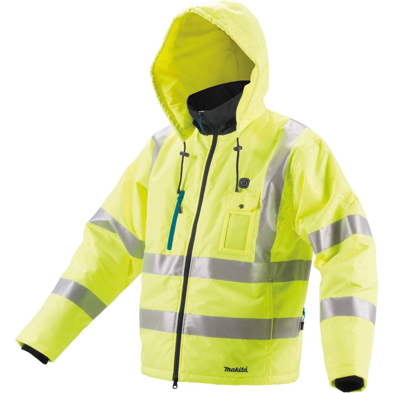 Makita DCJ206ZM 18V LXT High Visibility Heated Jacket, Medium, Fluorescent