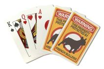 Warning - French Bulldog (Playing Card Deck - 52 Card Poker Size with Jokers)